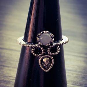 Handmade Silver Celtic Knot Polished Quartz Ring
